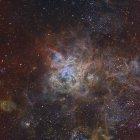 Туманность тарантул в Большом Магеллановом облаке — стоковое фото
