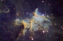 Paisaje estelar con Melotte 15 en Nebulosa del corazón - foto de stock