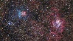 Región de formación de estrellas en la constelación de Sagitario - foto de stock