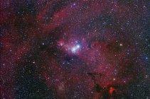 Paisaje estelar con la región de la nebulosa del cono - foto de stock