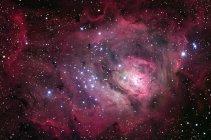 Туманность Лагуна в созвездии Стрельца — стоковое фото