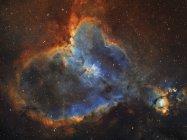 Starscape з серця туманність у сузір'ї Кассіопея — стокове фото