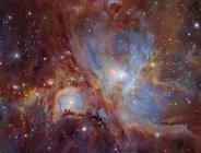 Paisaje estelar con Nebulosa de Orión - foto de stock