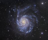 Paisaje estelar con Galaxia Pinwheel en Ursa Major - foto de stock