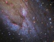 Brazo espiral de la galaxia de Andrómeda - foto de stock