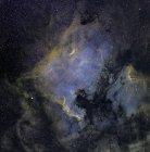 América del Norte y nebulosas pelícanas - foto de stock