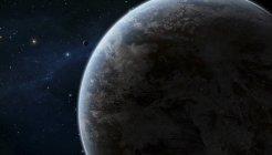 Планета в звездное пространство — стоковое фото
