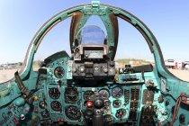 12 листопада 2016. Жуковський, Росія. Кабіні міг-27 атаки літака під час Макс-2015 авіашоу — стокове фото