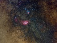 Vista panorámica de las nebulosas en Sagitario en alta resolución - foto de stock