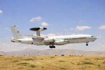 Turchia, Konya - 26 giugno 2013: Awacs della Nato E-3a Sentry frequentando internazionale esercizio Anatolian Eagle 2013-2 — Foto stock