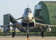 Italia - 17 gennaio 2018: aeronautica F-2000a Typhoon alla Base aerea di Trapani — Foto stock
