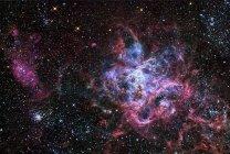 Région de formation des étoiles NGC 2070 située dans le Grand Nuage de Magellan — Photo de stock