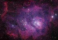 Nebulosa Laguna Messier 8 in colori reali ad alta risoluzione — Foto stock