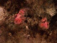 Eagle Nebula Messier 16 e Swan Nebula Messier 17 in alta risoluzione — Foto stock