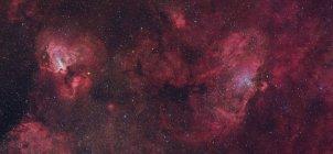 Nebulosa Aquila e Nebulosa Cigno in veri colori in alta risoluzione — Foto stock