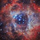 Туманність Розетка в справжній кольори з високою роздільною здатністю — стокове фото
