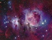 Messier 42 Nebulosa di Orione con nebulosa di riflessione NGC 1977 in alta risoluzione — Foto stock