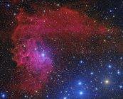 Nebulosa Stella fiammeggiante in costellazione Auriga in alta risoluzione — Foto stock