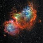 IC 1848 Seele Nebel in Echtfarben in hoher Auflösung — Stockfoto