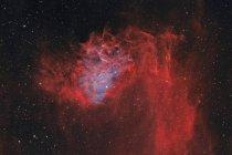 Nebulosa Flaming Star IC 405 en colores verdaderos en alta resolución - foto de stock