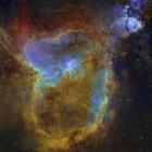 IC 1805 серце туманність у справжній кольори з високою роздільною здатністю — стокове фото