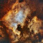 Nebulosa NGC 7000 Norteamérica y Nebulosa Pelican IC 5070 en alta resolución - foto de stock