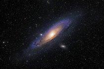 Галактика Андромеды Messier 31 в истинных цветах в высоком разрешении — стоковое фото