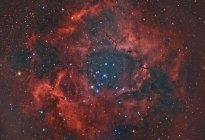 Туманность Розетка в регионе Единорог галактики Млечный путь — стоковое фото