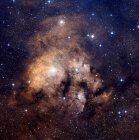 Nebulosa de emisión Cederblad 214 en constelación Cepheus - foto de stock