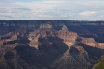Grand Canyon Yavapai point sur South Rim vers le Temple de Zoroastre, Arizona, é.-u. — Photo de stock
