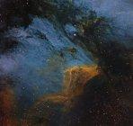 Пелікан туманність H Ii регіон у сузір'ї лебедя — стокове фото