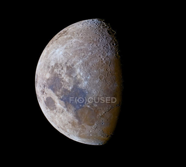Crescent Moon past first quarter — Stock Photo