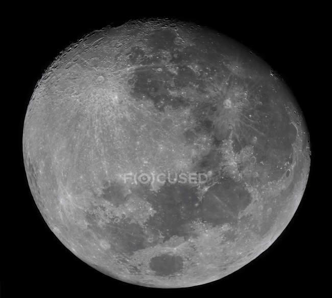 Waxing gibbous Moon — Stock Photo
