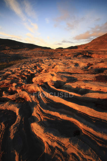 Скельні утворення на Glomfjordfjellet горі — стокове фото