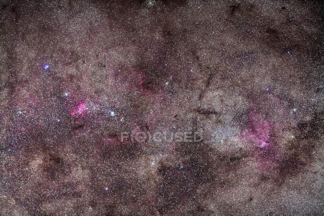 Sternenlandschaft mit falschem Kometen-Gebiet — Stockfoto