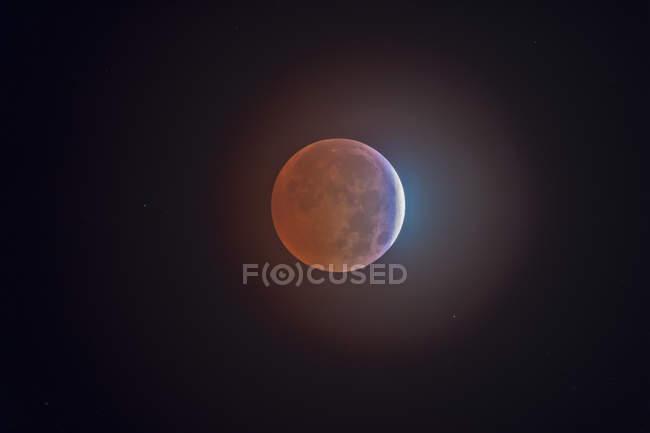 Imagen de la luna durante el eclipse - foto de stock