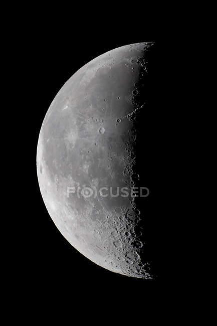 Superfície de lua minguante — Fotografia de Stock