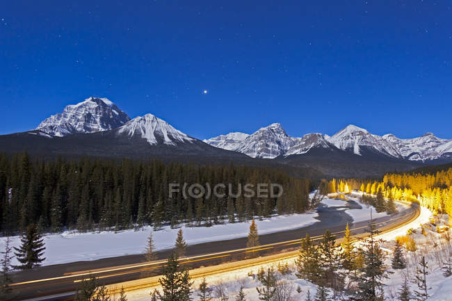Bow River and Morant Curve — Stock Photo