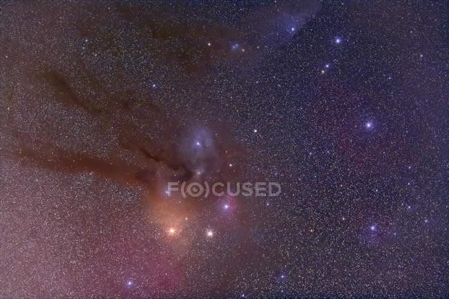 Starscape с скорпиона головы и мотодельтаплана Антарес — стоковое фото