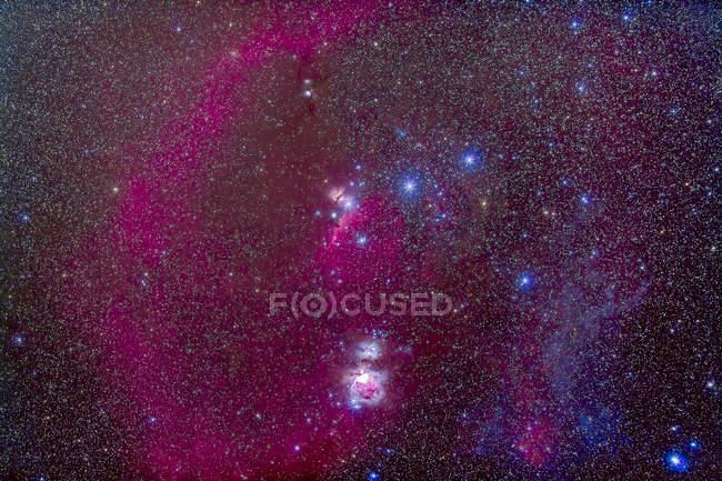 Starscape with Orion Nebula — Stock Photo