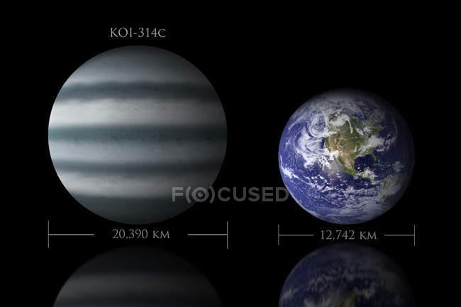Rapport de taille entre les planètes — Photo de stock