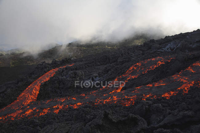 Pacaya Volcano lava flow — Stock Photo