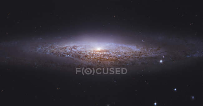 Ngc2683 Spiralgalaxie im Sternbild Luchs — Stockfoto