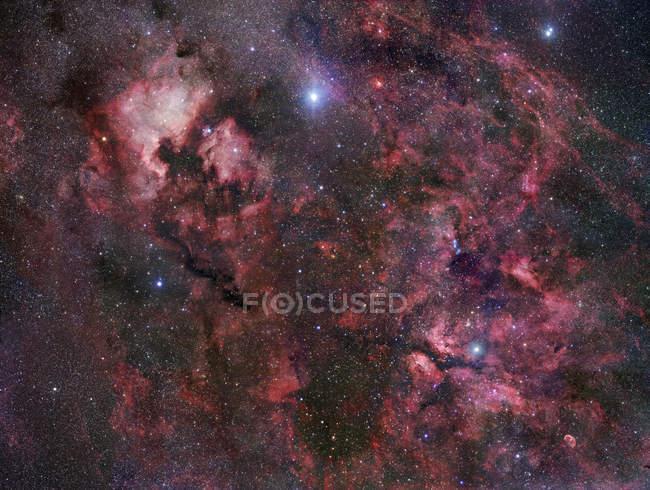 У сузір'ї Либідь у Чумацького шляху — стокове фото