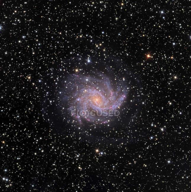 Fireworks intermediate spiral galaxy — Stock Photo