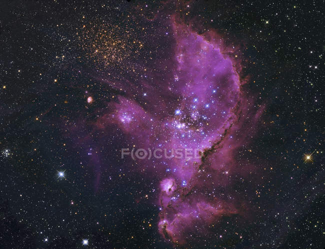 NGC 346 open cluster and nebula complex — Stock Photo