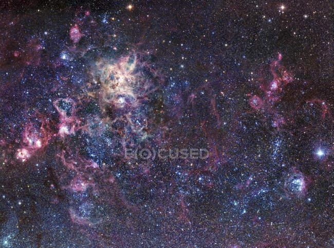 Tarantula Nebula in Large Magellanic Cloud — Stock Photo