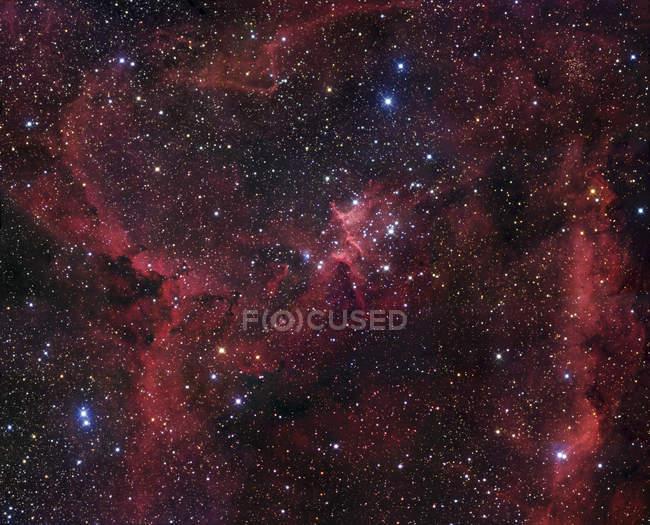 Heart nebula in constellation Cassiopeia — Stock Photo