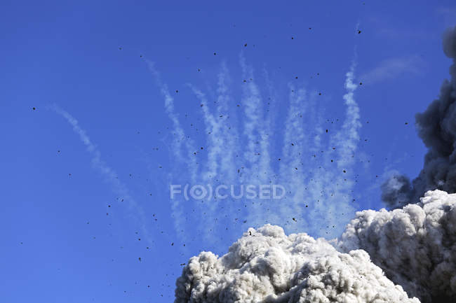 Ash cloud of Eyjafjallajokull eruption — Stock Photo