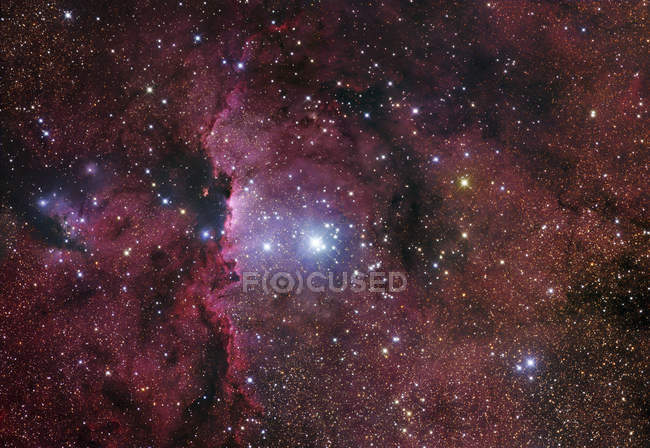 Starscape with NGC6188 emission nebula — Stock Photo
